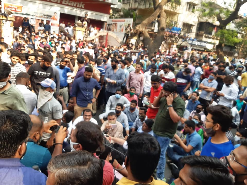 sit-in agitation of students in Pune